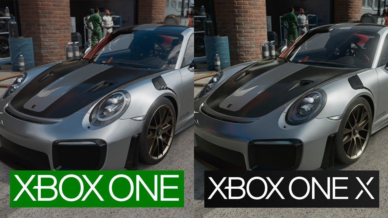 forza 7 xbox one vs xbox one x 1080p graphics comparison final