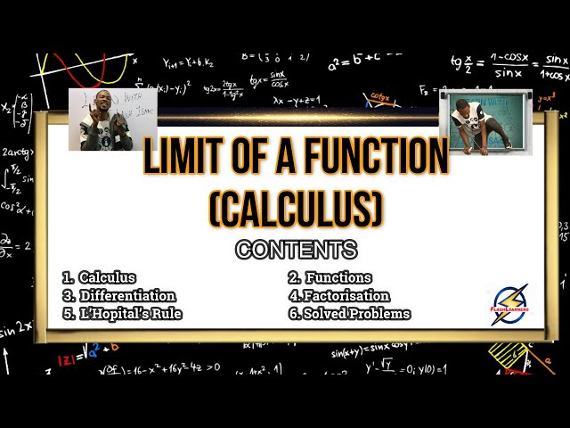 Limit of a Function | Calculus For Waec, Jamb & Schools