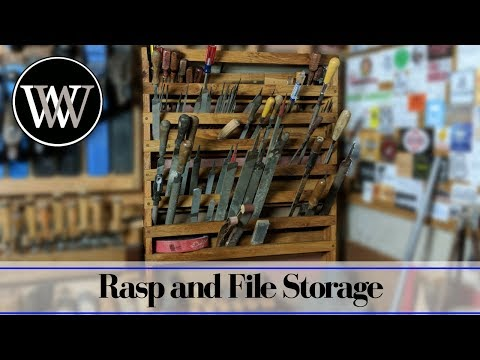 File and Rasp Storage Rack   French Cleat Hand tool storage system