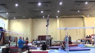 Гимнаст Игорь Радивилов. Тренировка перед Олимпиадой 2016г.