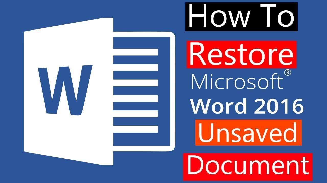 microsoft word 2016 mac recover unsaved document