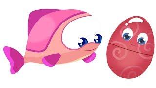 Мультики для маленьких: #БиБаБу. Русалочка и Яйца с сюрпризом. Развивающий мультик, 4