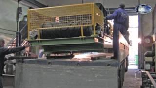 Cinta (banda) transportadora fabricada en RAMSO SA con silla (cama) de impacto RAMSO-DvB.mpeg