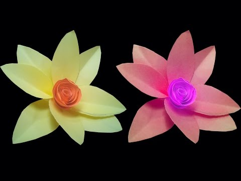 How to make Origami flowers ( very easy ) : DIY Crafts
