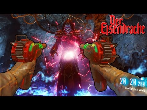 BLACK OPS 3 ZOMBIES - DUAL WIELD RAY GUN ONLY BOSS FIGHT EASTER EGG DER EISENDRACHE! (BO3 Zombies)