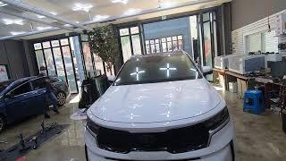 신형 쏘렌토 MQ4 차량에 후진시 자동비상등 후깜모듈 …