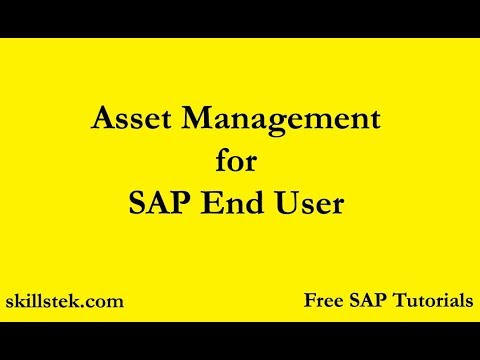 Asset Management for SAP End User - Learn Asset Depreciation, Asset Sales, Asset Purchase in SAP