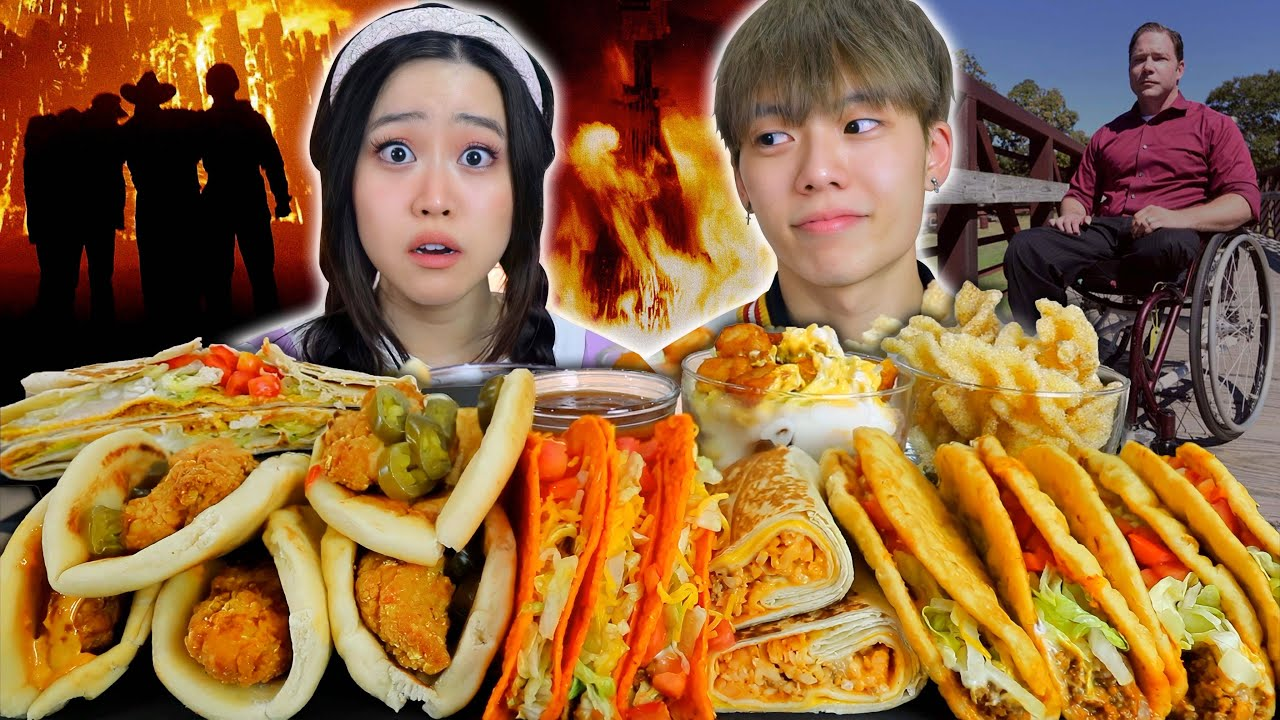 The Deadly College Bonfire - Why Did It Collapse? - New Taco Bell Chicken Taco Mukbang