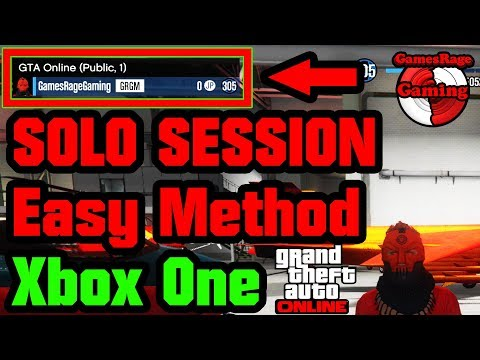 GTA5 : How To Get Into A Solo Public Session (Xbox One)