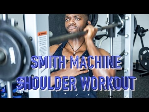 FULL SMITH MACHINE SHOULDER WORKOUT