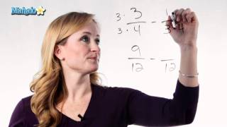 Learn Fractions - How to Subtract Fractions