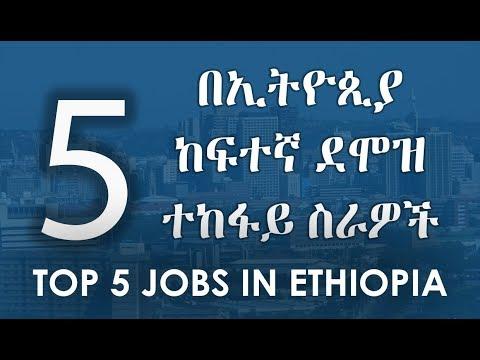 Top 5 Jobs In Ethiopia : 5