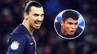 Thiago Silva reveals how Zlatan Ibrahimovic threatened him before he joined PSG  Oh My Goal
