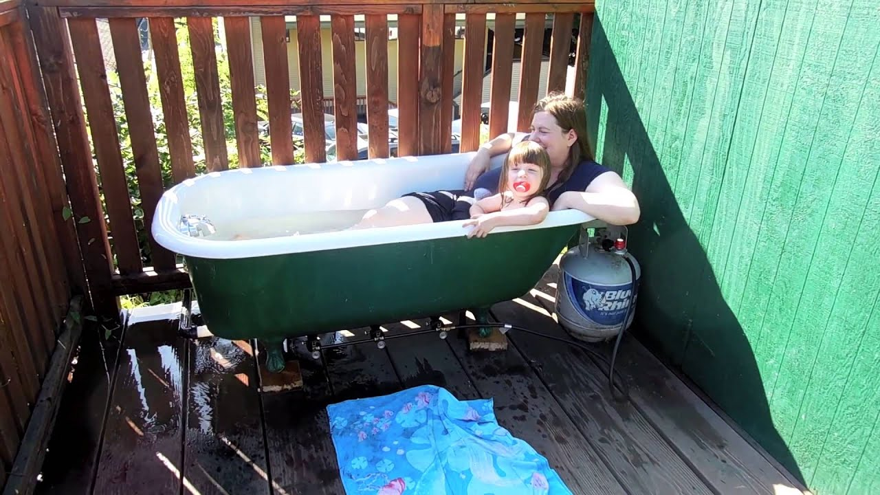 Propane Powered Clawfoot Tub - YouTube