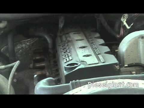 2001 Dodge Ram 2500 Turbo Diesel Cummins engine blow-by test - YouTube
