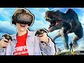 JURASSIC WORLD VR GAME!  | Ark Park (HTC Vive + Haptic bHaptics Suit Gameplay)
