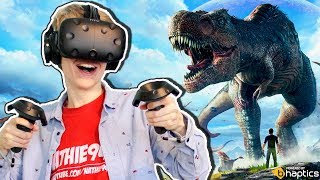 Jurassic World Vr Game!  | Ark Park  Htc Vive + Haptic Bhaptics Suit Gameplay