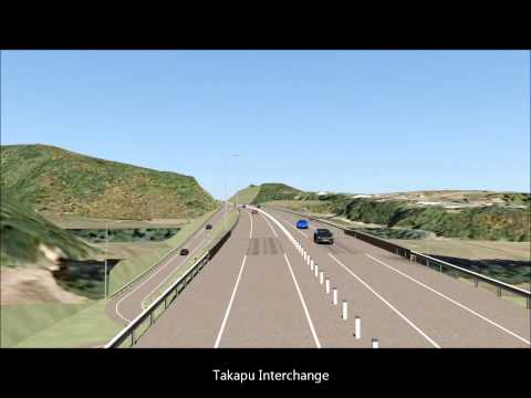 Visual simulation of the Link Road route.