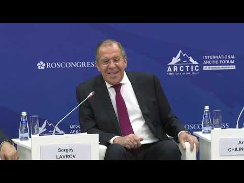 Смотреть Выступление С.Лаврова на открытии министерской сессии V Международного арктического форума онлайн