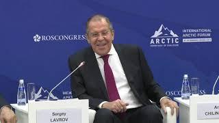 Выступление С.Лаврова на открытии министерской сессии V Международного арктического форума
