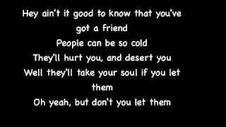 McFly - You've Got a Friend - Lyrics