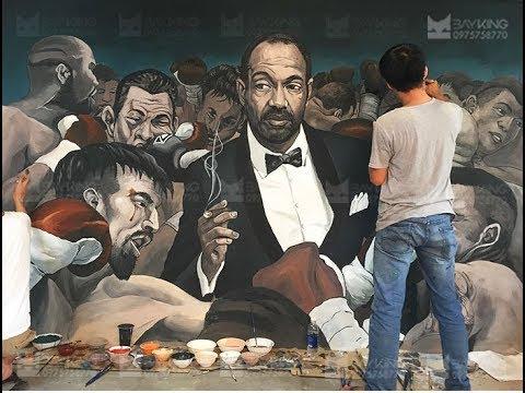 Vẽ Tranh Tường Nghệ Thuật – painting mural art Vietnamese
