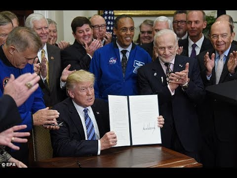 President Trump Re-establishes National Space Council, US PRESIDENT TO MAKE SPACE RACE GREAT AGAIN!
