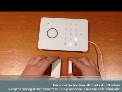 comment enregistrer un contact porte fen tre avec sa centrale d 39 alarme sans fil gsm youtube. Black Bedroom Furniture Sets. Home Design Ideas