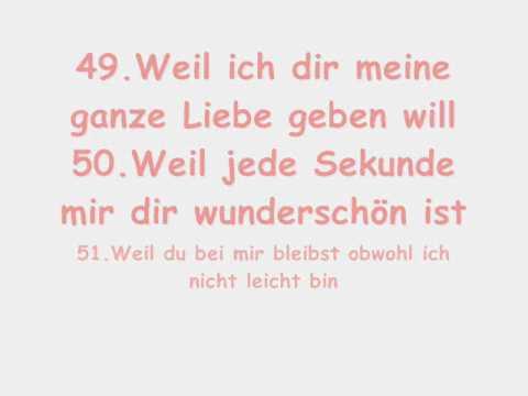 Liebe warum ich 50 dinge dich 50 Gründe,