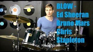 BLOW Drum Tutorial - Ed Sheeran with Bruno Mars and Chris Stapleton Video