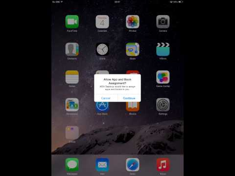 IKEA iPAD MDM enrollment with iTunes account pre registered on the device
