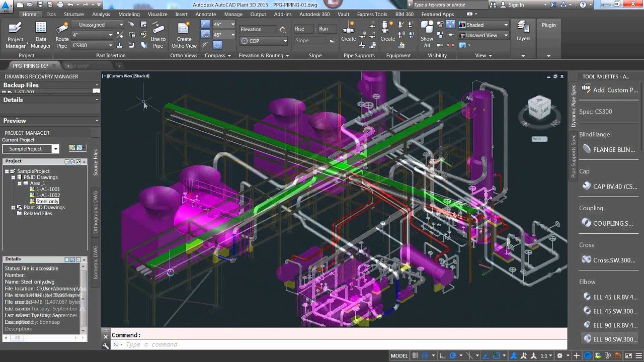 advance steel 2015 1 workflow with autocad plant 3d youtube