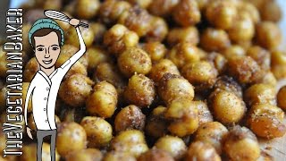 How To Make Spicy Roasted Chickpeas | Healthy Vegan Snack | Thevegetarianbaker