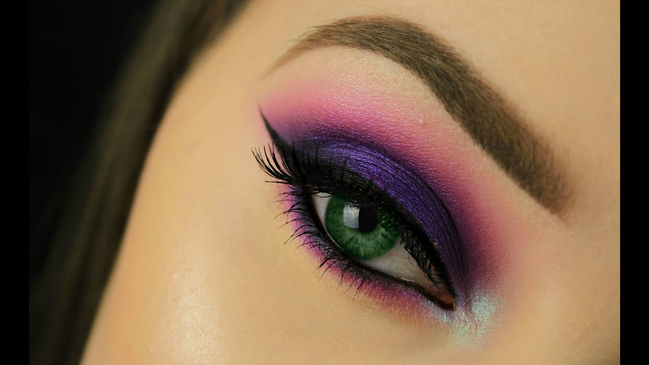 how to: make green eyes pop! | purple smokey eye