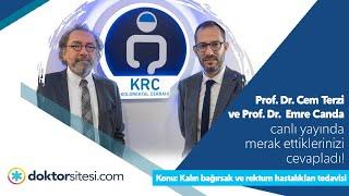 Prof. Dr. Cem Terzi ve Prof. Dr. Emre Canda ile canlı yayındaydık.