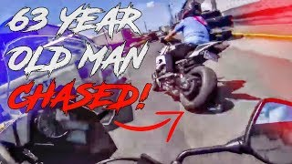 COPS VS BIKERS | POLICE CHASE 63 YEAR OLD BIKER!!! DON'T MISS IT!!!