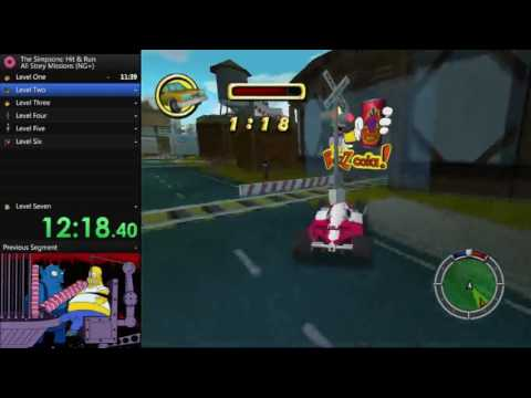 Simpsons Hit And Run Open Wheel Race Car