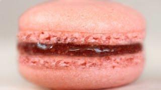 Easy Macaron Recipe Without Mixer 딸기 마카롱 만들기