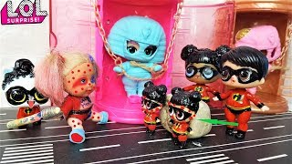 CARTOONS DOLLS LOL SURPRISE HOW DID THE SUPERFAMILY ESCAPE? #animated cartoon