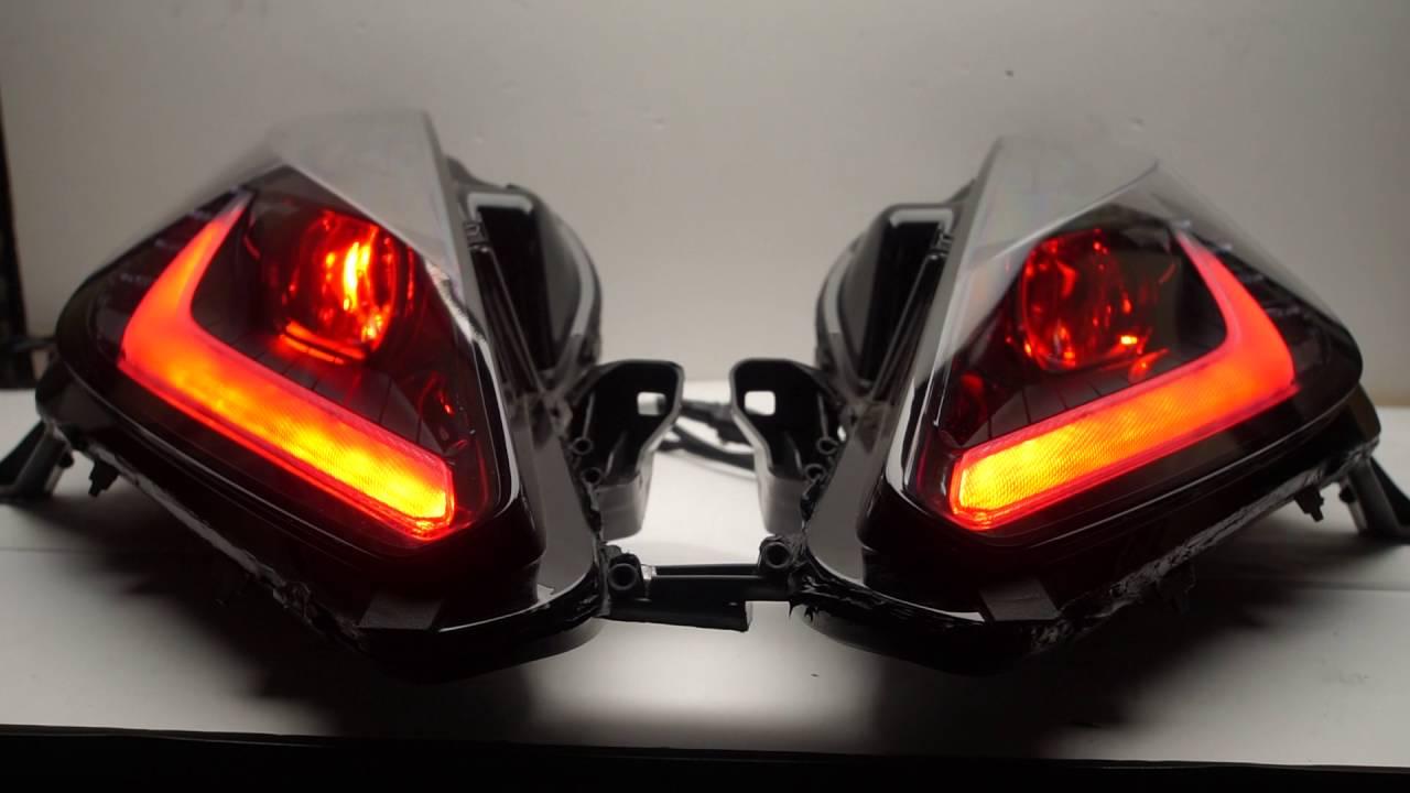 Custom Corvette C7 RGBW DRL lighting - YouTube