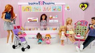 La Famila lol Vacay Babay van a la heladeria de Barbie  - Juguetes para niños y niñas