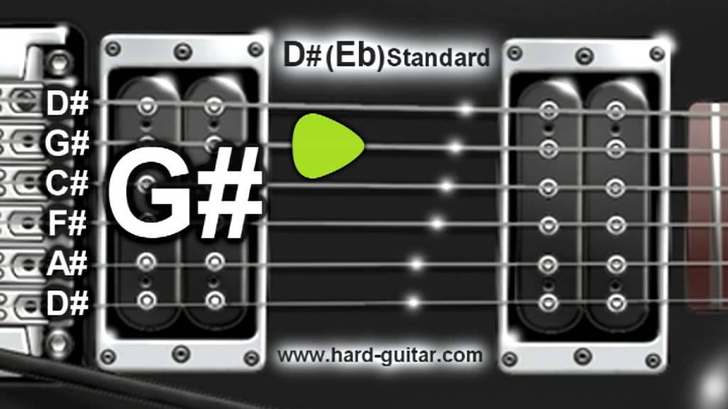 d eb standard guitar tuner d g c f a d tuning youtube