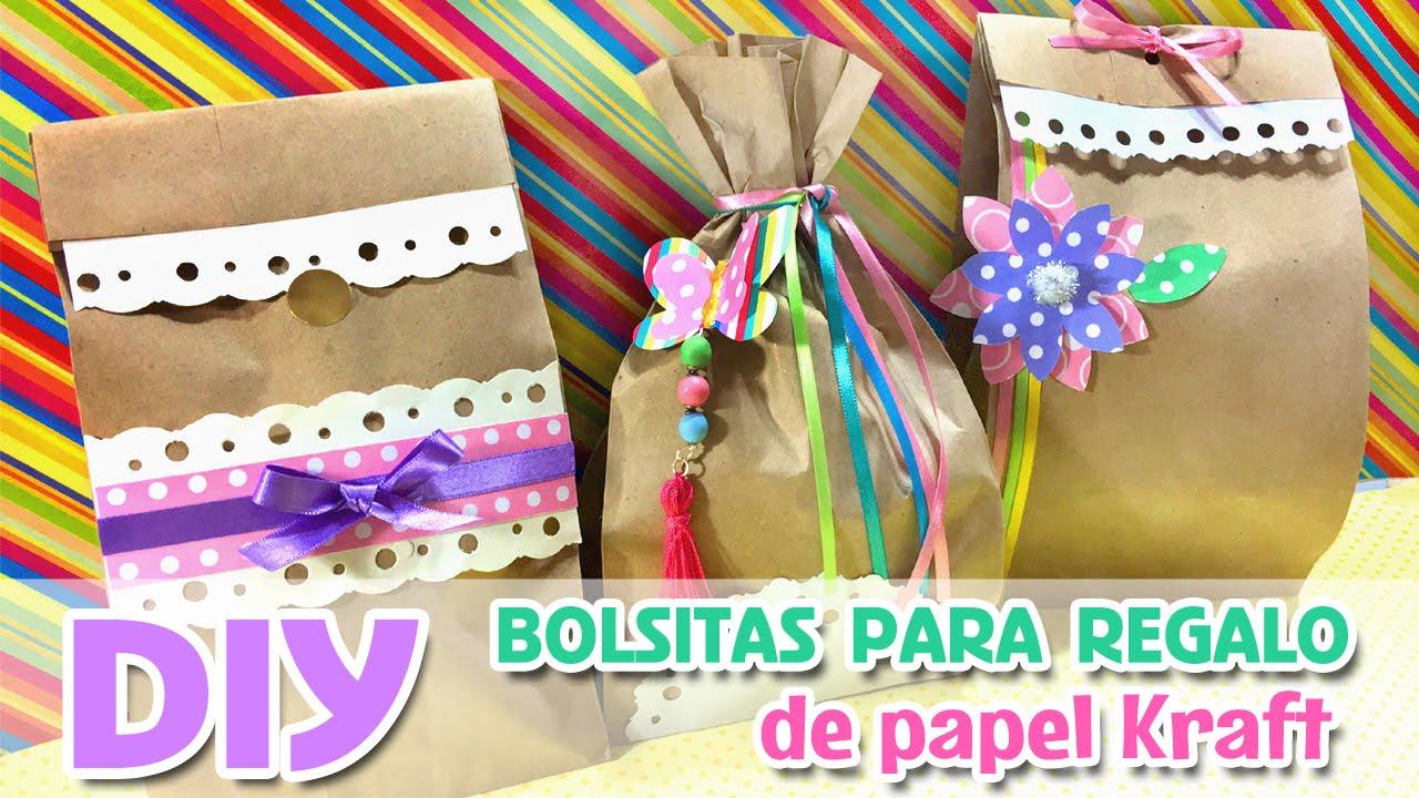 e3028a446 BOLSITAS PARA DULCES de papel Kraft, Ideas fáciles por ℳarlene Campos -  YouTube