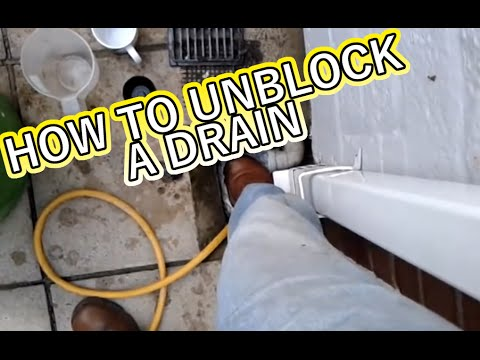 HOW TO UNBLOCK A DRAIN WITHOUT SPENDING MONEY - YouTube
