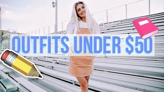 10 Back to School Outfits Under $50! | Aspyn Ovard