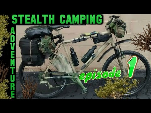 Stealth Camping Adventure🌴Stealth Bicycle Camping on Hill w Grabber Tarp~Camp Cooking~Wood Carving⛺
