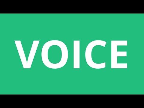 How To Pronounce Voice - Pronunciation Academy
