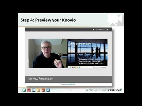 How to Create a Knovio Online Presentation