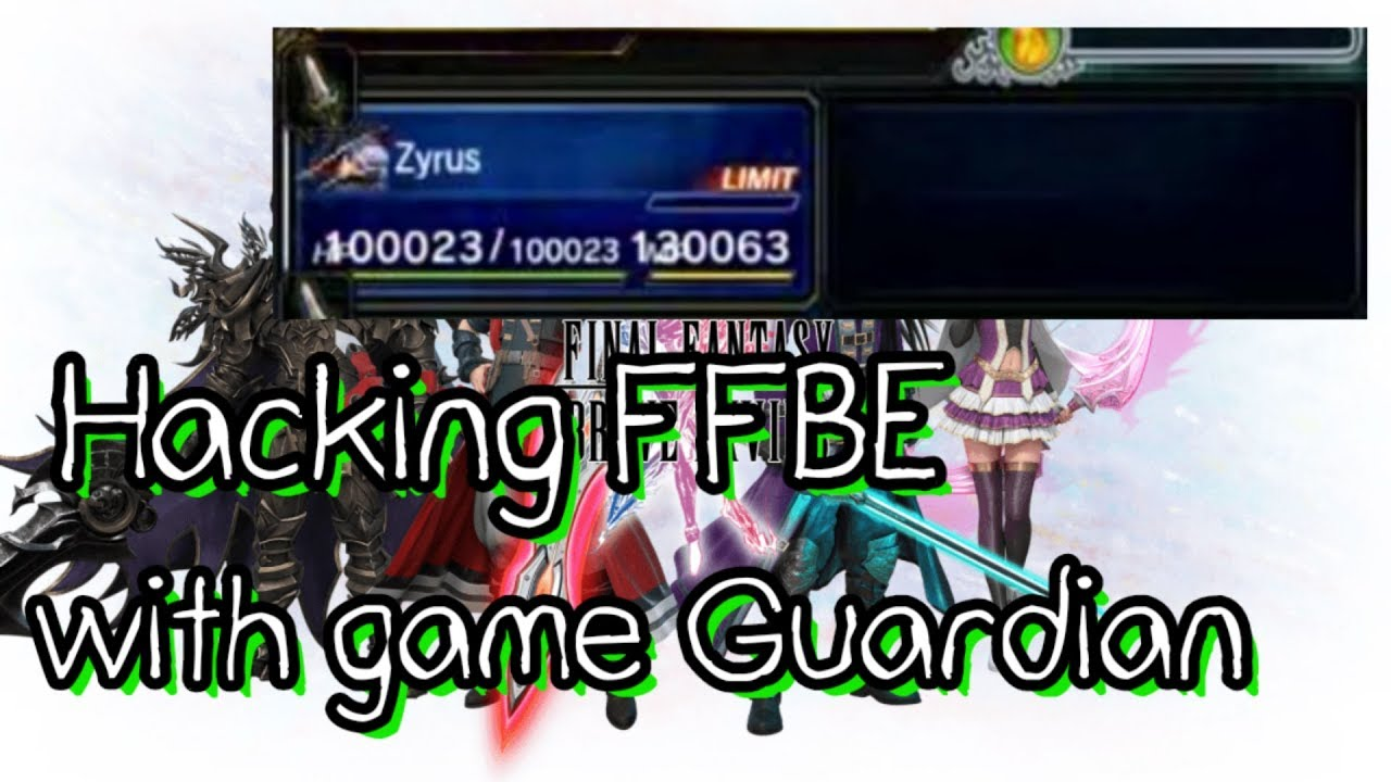 2018 Hacking FFBE with game Guardian 2