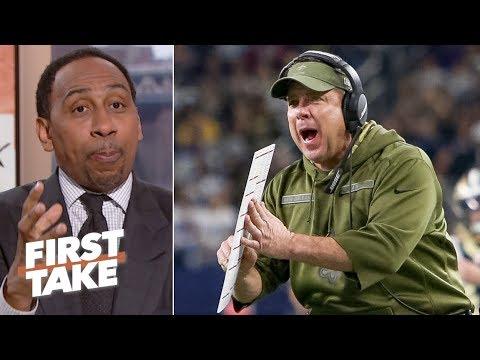 Sean Payton should make Saints rewatch 2017 NFC Playoff loss as motivation - Stephen A. | First Take